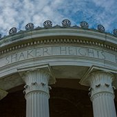 Portico of City Hall in Shaker Heights
