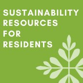 Graphic reading Sustainability Resources for Residents