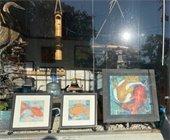 Chagrin Blvd. storefront art