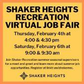 Recreation Dept. Job Fair