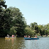 Canoes on Lower Lake in Shaker Heights