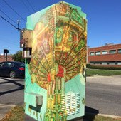 Utility Box Art by Renee Parker Boyle