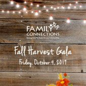 Family Connection Fall Harvest Gala Flyer