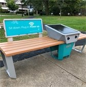 Wi-Fi Solar Benches
