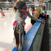 Skaters prepare for lessons.