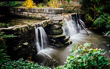 Lower Lake dam in Shaker Heights, Ohio
