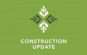 Graphic for construction update notice