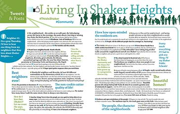 Living in Shaker graphic