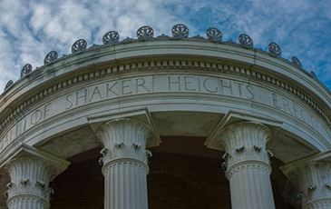 Shaker Heights City Hall portico