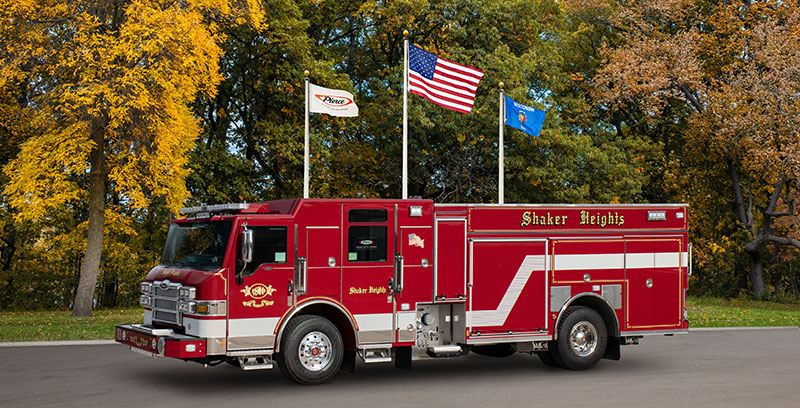SHFD's new pumper truck, which went into service in 2020.