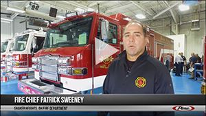 Still from video tour of new fire truck